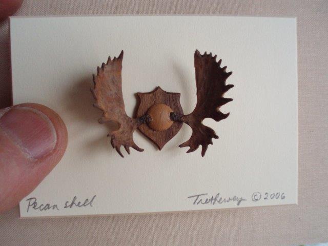 miniature pecan antlers by wenaha gallery artist Ralph Trethewey