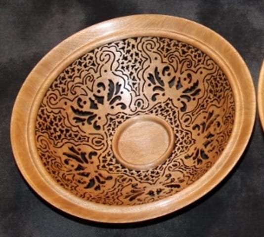 Birch Butterfly Bowl by Pat and Peggy Bookey