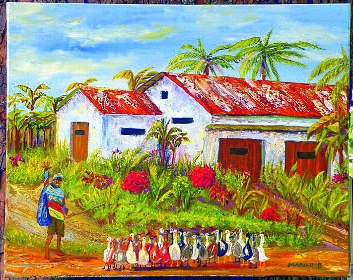 The Duck Herd original oil painting by Marilu Bryan