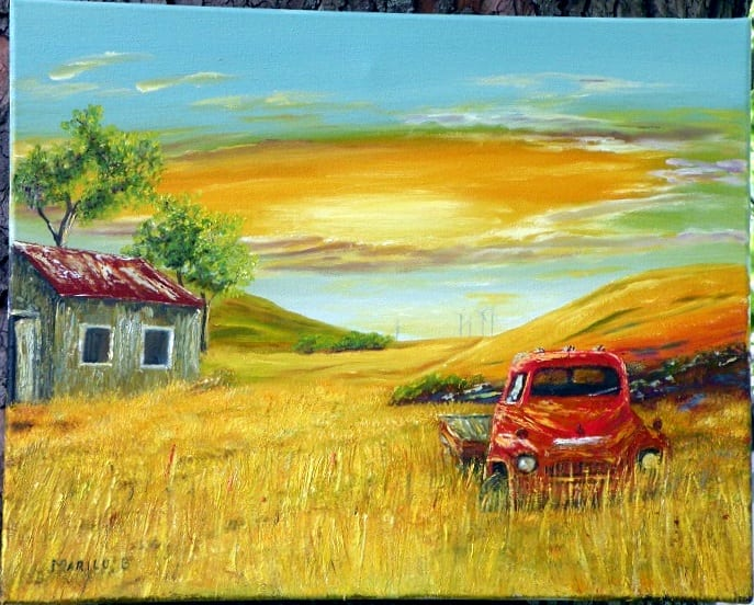 Out to Pasture original oil painting by Marilu Bryan