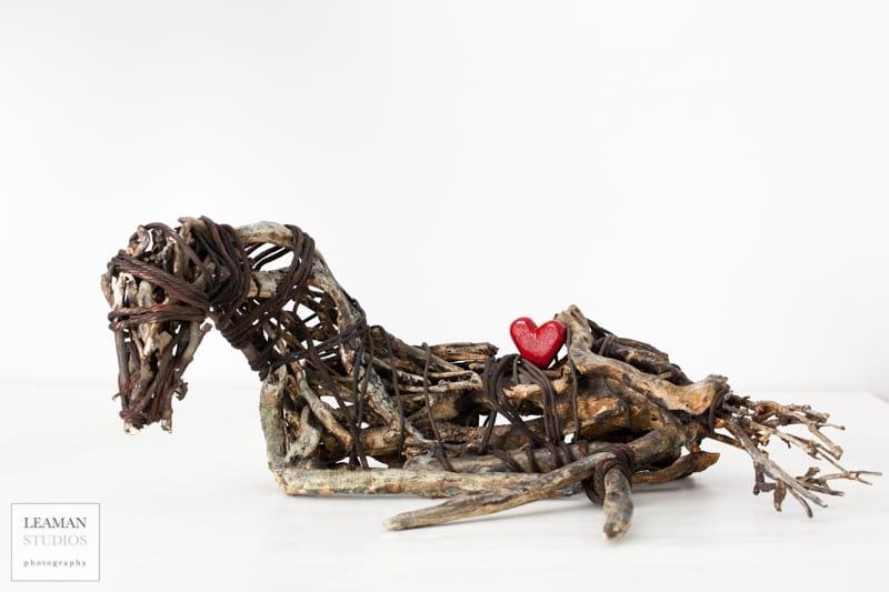 Welded horse sculpture by wenaha gallery artist Carlos Acevedo