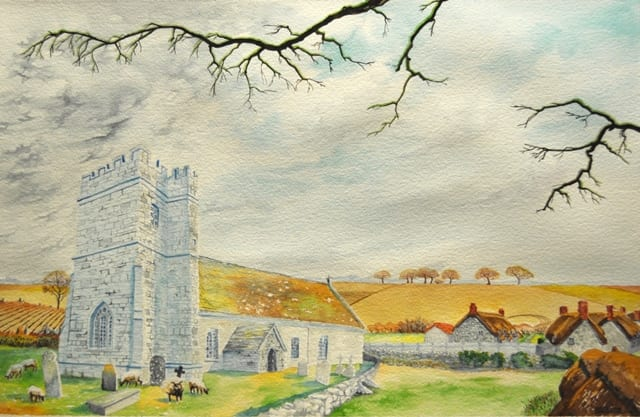 Village Church by Craig Whitcomb at the Wenaha Gallery