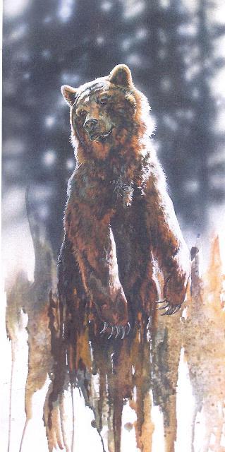 Grizzle by Janane Grende, Wenaha Gallery Art Walk featured artist.
