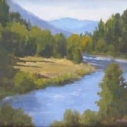 Bend in the River, original oil painting by Wenaha Gallery Artist Jim McNamara.