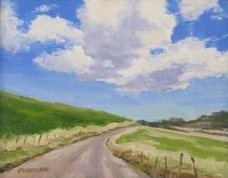 Dirt Road, Big Sky by Wenaha Gallery Artist Jim McNamara