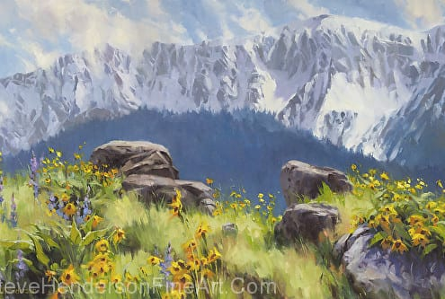 The Land of Chief Joseph inspirational original oil painting by Wenaha Gallery artist Steve Henderson