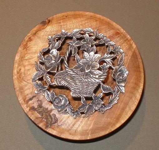 Lidded Flower Bowl by Wenaha Gallery artist Rick Woodard.