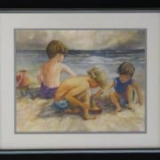 At the Beach original watercolor by Wenaha Gallery guest artist Vivian McCauley