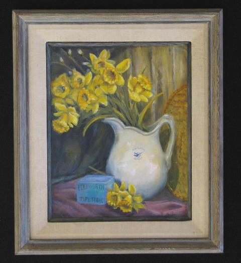 Daffodil Pitcher by Wenaha Gallery guest artist Vivian McCauley