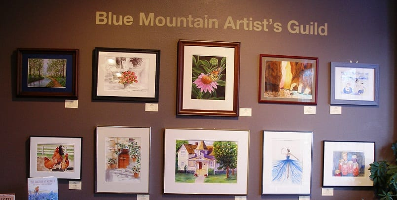 An eclectic show of various media, subject matter, and art styles by the Blue Mountain Artist Guild, at Wenaha Gallery