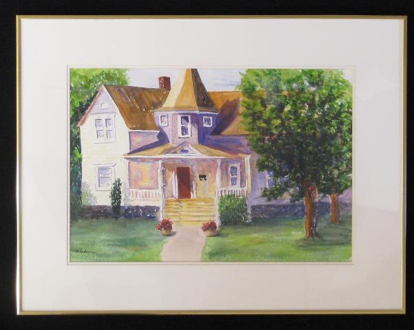 Number 500, original watercolor by Meredith Dedman of the Blue Mountain Artist Guild, at Wenaha Gallery.