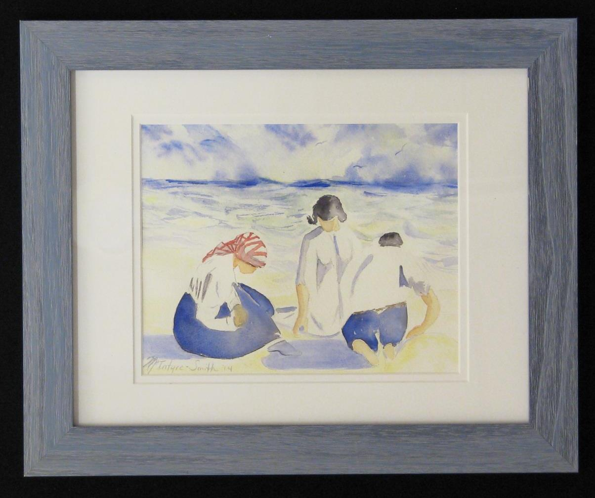 The Conversation, original watercolor painting by Michele McIntire-Smith of the Blue Mountain Artist Guild, at the Wenaha Gallery.