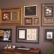 A wall of ready-made frames is an art statement in itself at Wenaha Gallery, Dayton, WA.