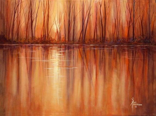 Autumn Glow by Paul Henderson, Wenaha Gallery guest artist.