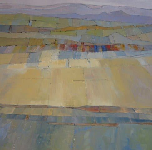 Basin Hills and Fields, original oil painting by Wenaha Gallery artist Gordy Edberg