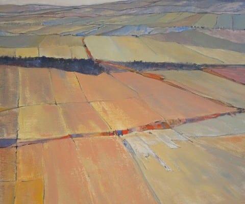 Fractured Terrain, original oil painting, by Wenaha Gallery artist Gordy Edberg