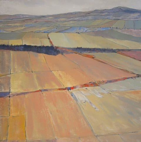 Fractured Terrain, original oil painting, by Wenaha Gallery artist Gordy Edberg
