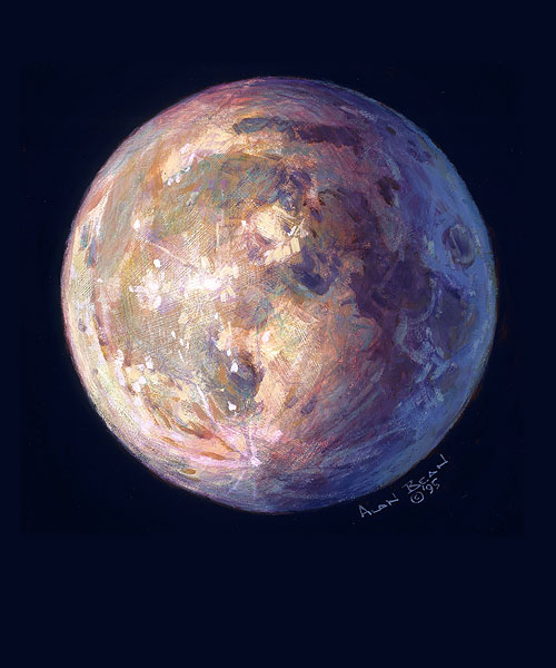 Beautiful Moon Fine Art Canvas