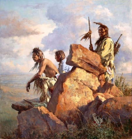 Among the Spirits of the Long Ago People - Howard Terpning