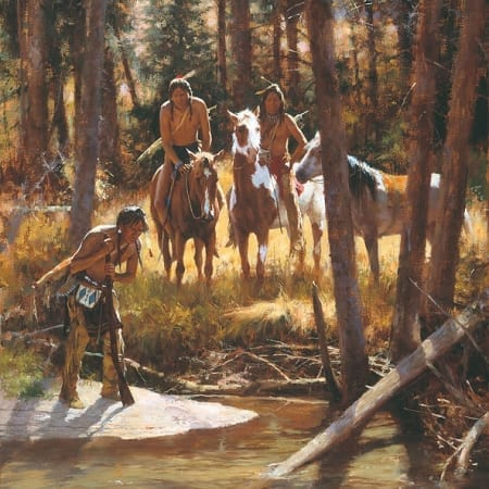 Bear Tracks - Howard Terpning
