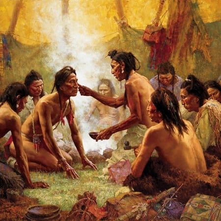 Blessing from the Medicine Man - Howard Terpning