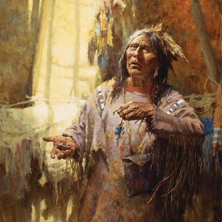 Calling the Buffalo - Howard Terpning