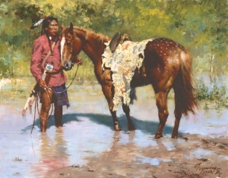 Deeds of His Father - Howard Terpning