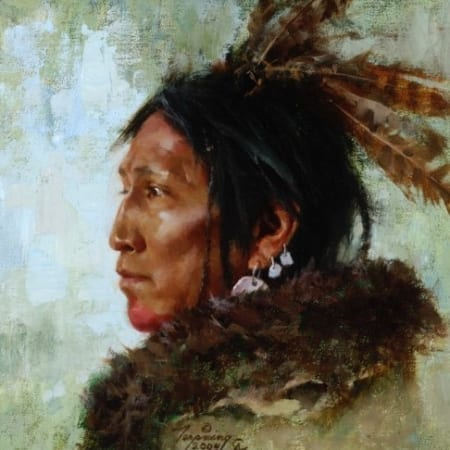 Hawk Feathers - Howard Terpning