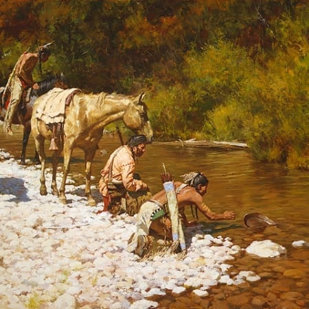 Prospectors Among the Blackfeet - Howard Terpning