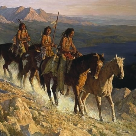Trail Along the Backbone - Howard Terpning