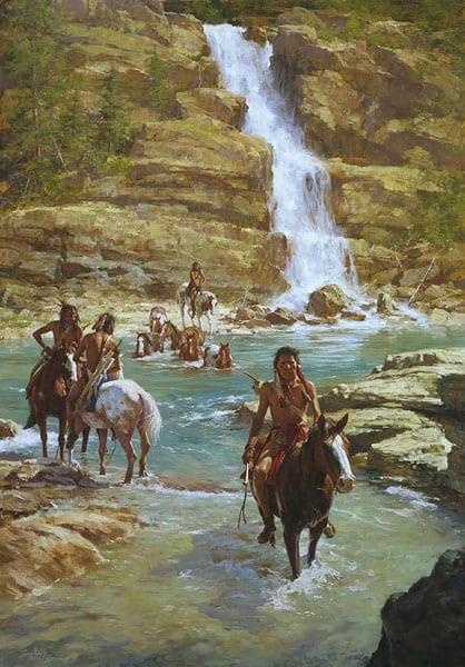 Vanishing Pony Tracks - Howard Terpning