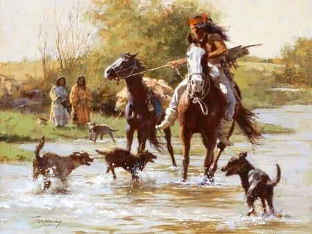Yapping Dogs - Howard Terpning