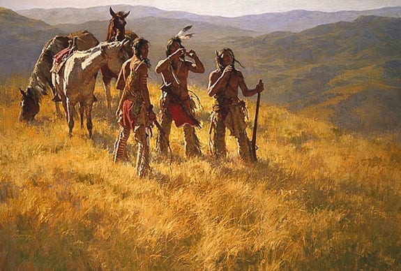 Dust of Many Pony Soldiers/The Warrior - Howard Terpning