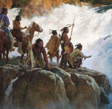 Force of Nature Humbles All Men - Howard Terpning