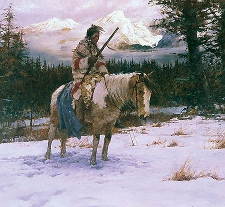 The Lonely Sentinel - Howard Terpning