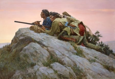 Sharpshooters Closing on the Herd - Howard Terpning