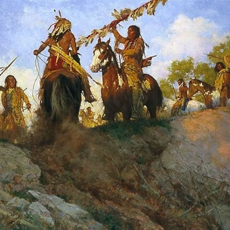 Sunset for the comanche - Howard Terpning