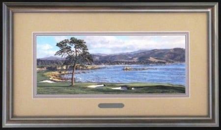 18th Hole at Pebble Beach - framed