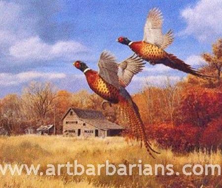 Autumn's Splendor - Pheasants