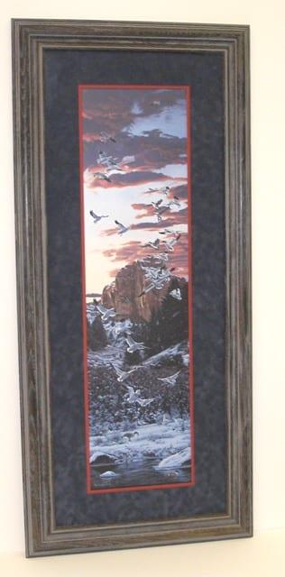 Snowstorm, framed