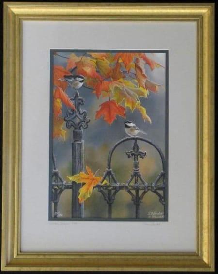 Victorian Seasons Fall Chickadee