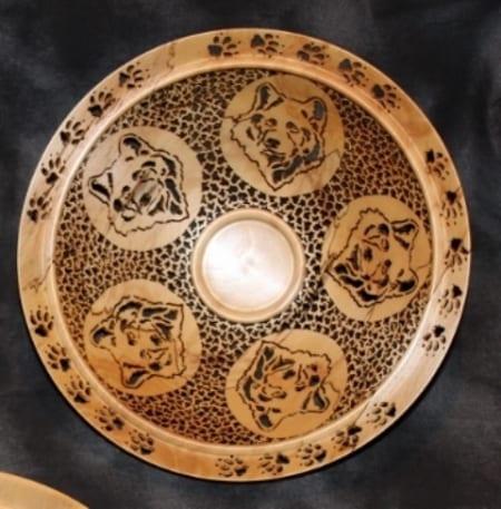 Wolf Medallion Bowl, #6