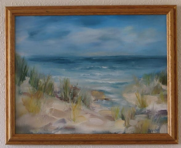 Beachy Dream, original oil painting by Wenaha Gallery guest artist Deborah Krupp