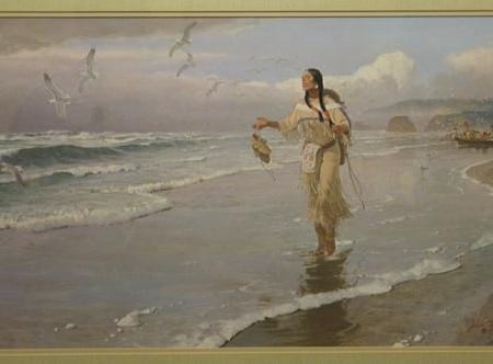 Sacajawea at the Big Water