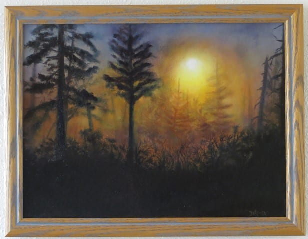 Wenaha Morning Mist, original oil painting by Wenaha Gallery guest artist Deborah Krupp