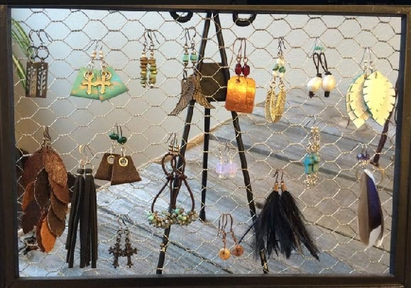 Handcrafted earrings by Anna Steinhoff, guest artist at Wenaha Gallery
