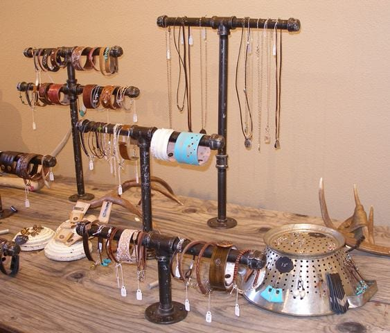 A selection of jewelry by Anna Steinhoff, guest artist at Wenaha Gallery