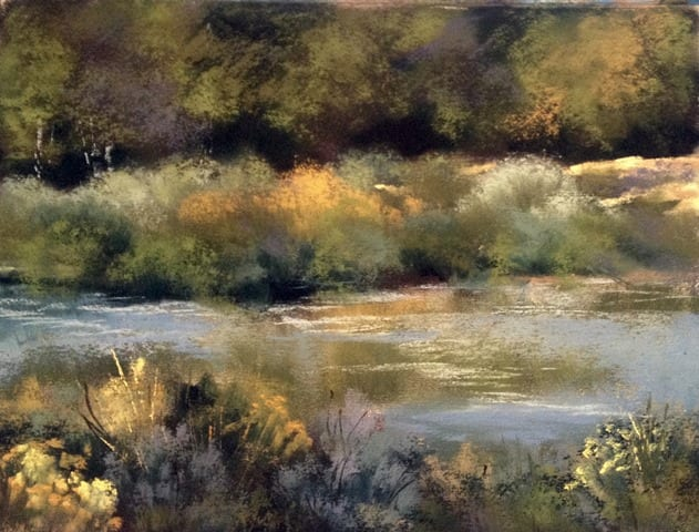 Creekside, original pastel painting by Wenaha Gallery artist Bonnie Griffith
