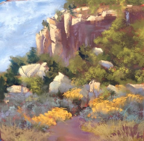 Grand Staircase II, original pastel painting by Wenaha Gallery artist Bonnie Griffith