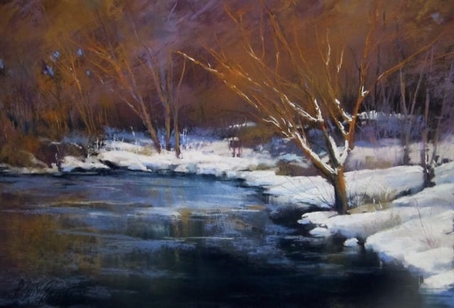 River Bend, original pastel by Wenaha Gallery artist Bonnie Griffith
